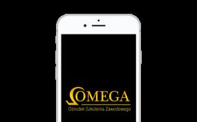 Telefon z logo OMEGA na wyświetlaczu